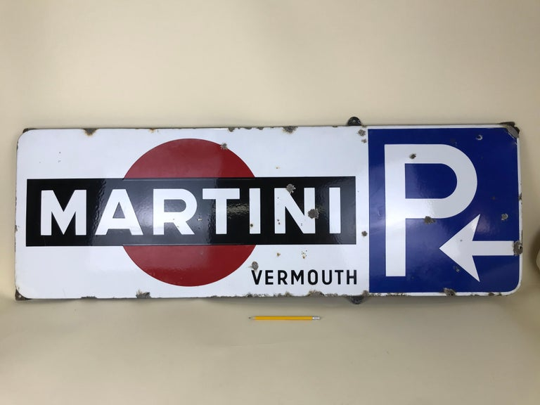 This rare enamel metal sign of Martini was produced in the 1950s in Belgium for advertising purposes.