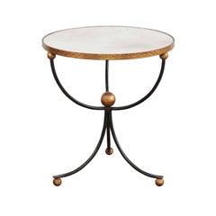 1950s Vintage Italian Midcentury Palladio Gilt Metal and Iron Table