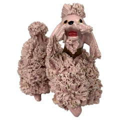 """A Pink Poodle-The Iconic Symbol of the 1950""""s a Vintage Ceramic"""