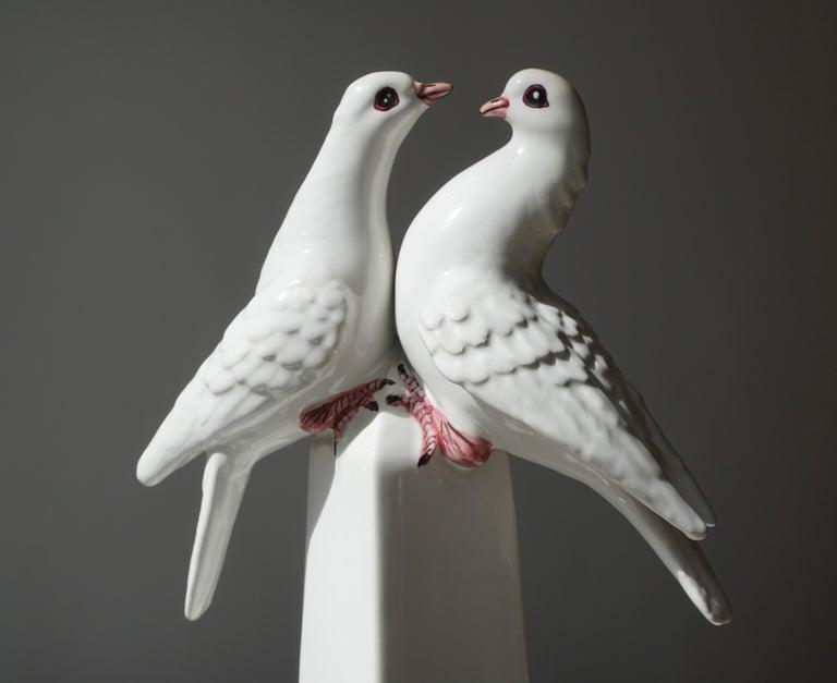 20th Century 1950s Vintage Italian Neoclassical Porcelain Obelisk For Sale