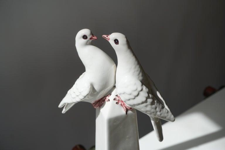 1950s Vintage Italian Neoclassical Porcelain Obelisk For Sale 2