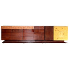 1950s Vintage Rosewood Sideboard, Mid-Century Modern Italian Style by Dassi