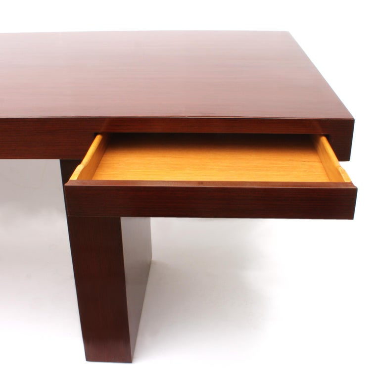 1950s Vintage Mid-Century Modern Executive Desk by Edward Wormley for Dunbar In Good Condition For Sale In Lafayette, IN