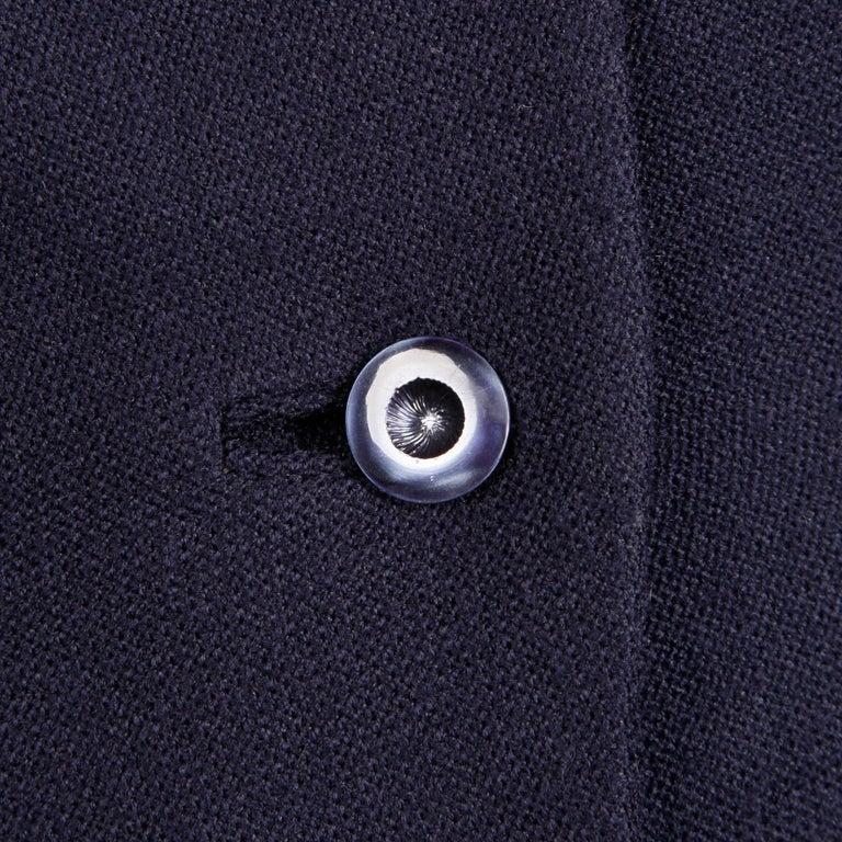 1950s Vintage Navy Blue Wool Blazer Jacket Size XS For Sale 1