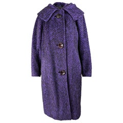 1950s Vintage Purple Cocoon Coat