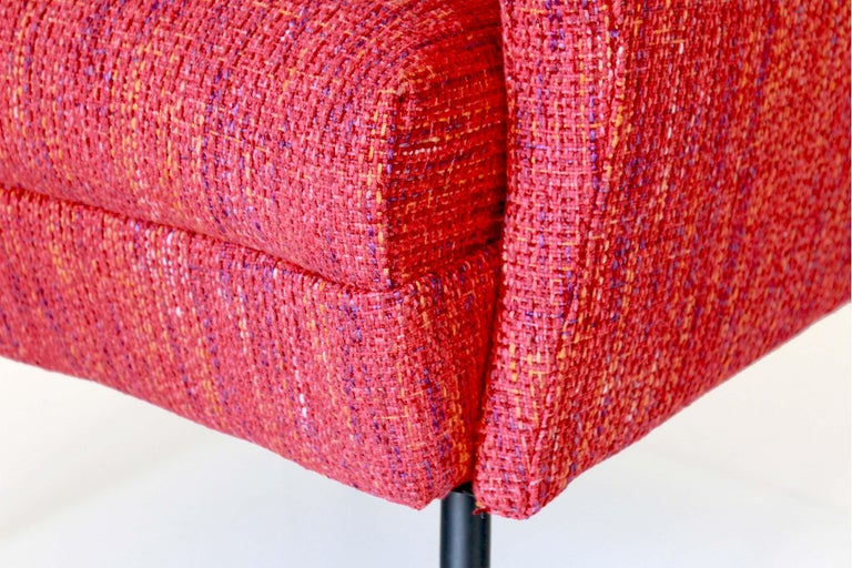1950s Vintage Red Armchairs, Set of Two For Sale 7