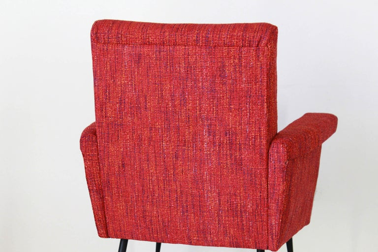 1950s Vintage Red Armchairs, Set of Two For Sale 10