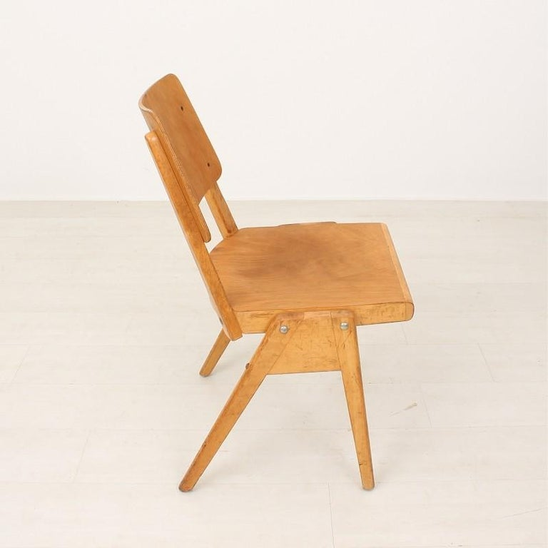 Mid-Century Modern 1950s Vintage Stacking Chair For Sale