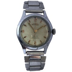 1950s Vintage Stainless Steel DELBANA Mechanical Watch