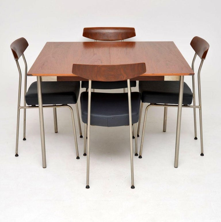 1950s Vintage Teak Dining Table And Chairs By John And Sylvia Reid