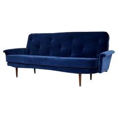 1950s Vintage Velvet Sofa Bed