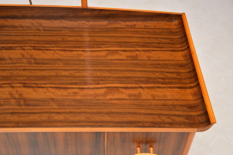 Beech 1950s Vintage Walnut Dressing Table For Sale