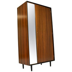 1950s Vintage Walnut Wardrobe by John & Sylvia Reid for Stag