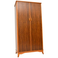 1950s Vintage Walnut Wardrobe