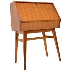 1950s Vintage Walnut Writing Bureau