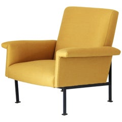 1950s Vintage Armchair with yellow cover