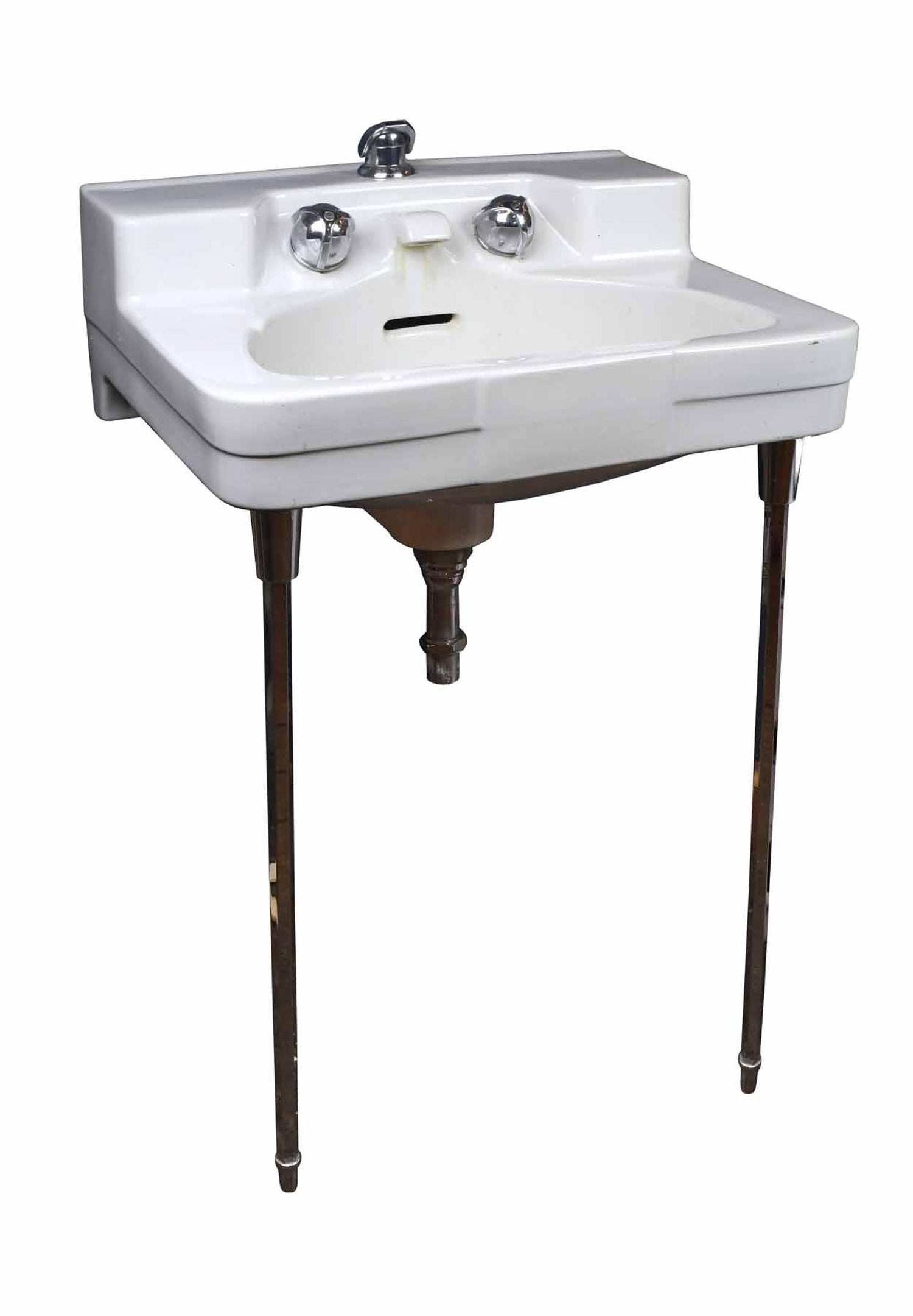 1950s Wall Mount Sink With Chrome Legs At 1stdibs