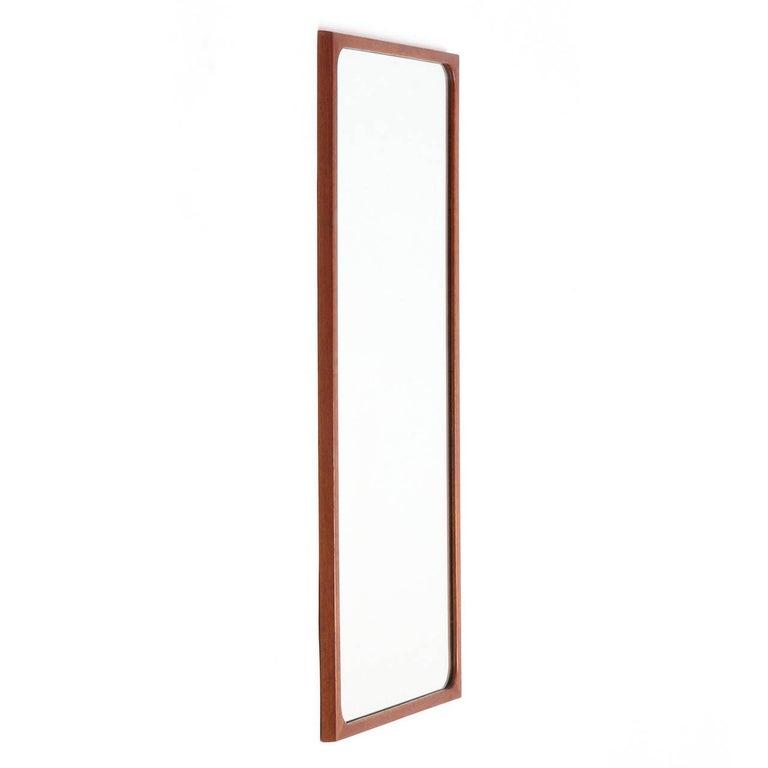 Teak 1950s Wall Shelf and Mirror by Ludvig Pontoppidan For Sale