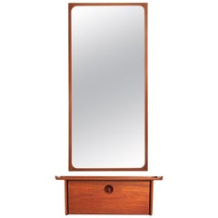 1950s Wall Shelf and Mirror by Ludvig Pontoppidan