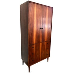 1950s Walnut Gentlelman's Dresser by John Kapel for Glenn of California