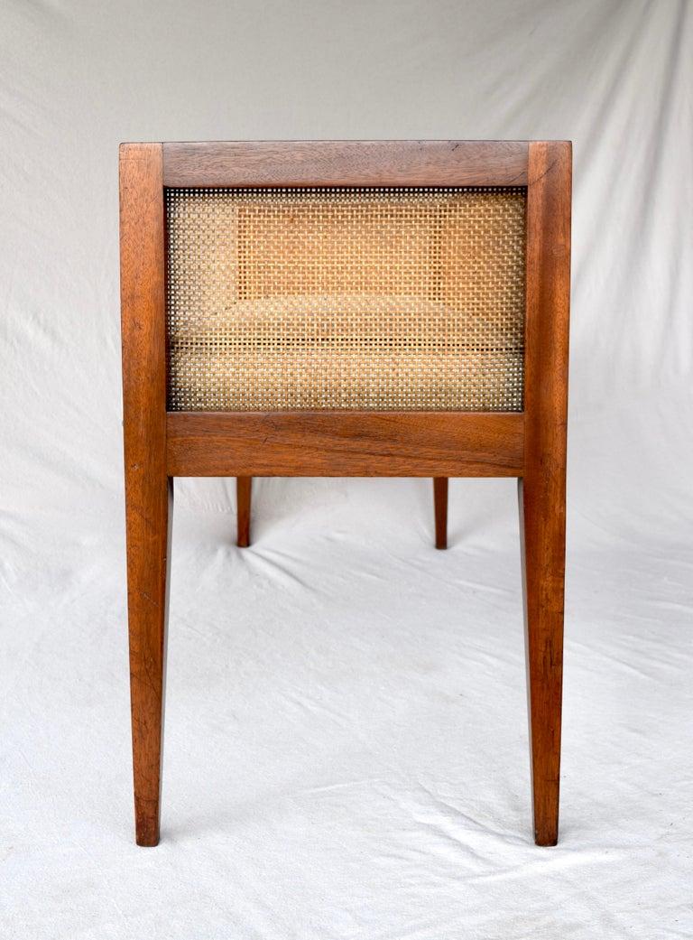 1950s Walnut Window Bench Attributed to Edward Wormley for Dunbar 8