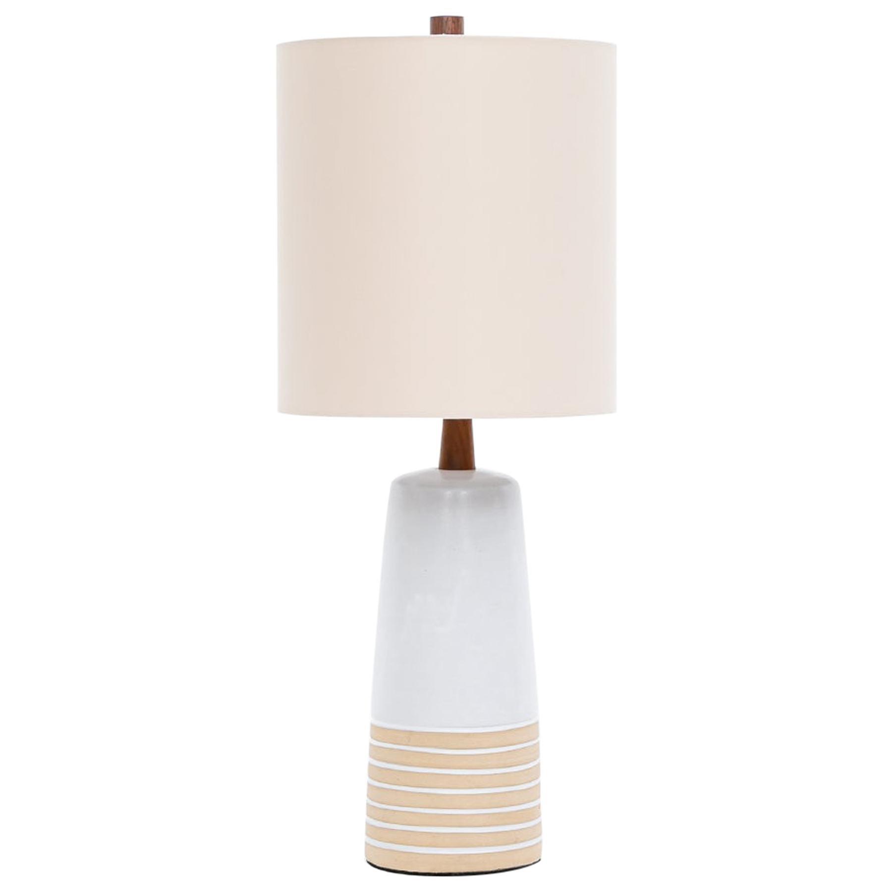 1950s Warm, Bright Ceramic Table Lamp by Jane & Gordon Martz 'j'