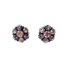 1950's Warren Rhinestone Earrings