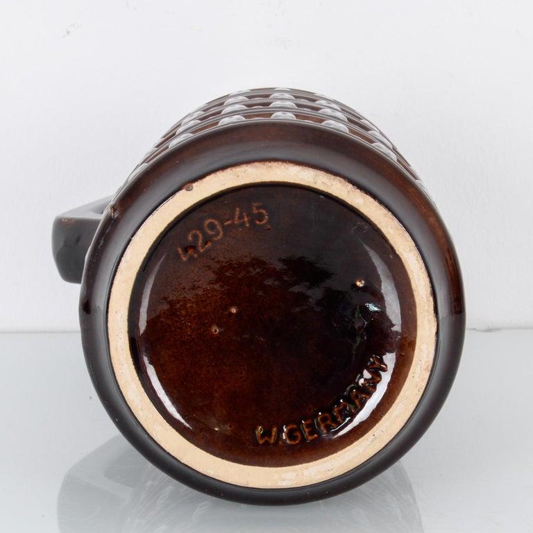 Mid-Century Modern 1950s West German Brown Ceramic Vase For Sale