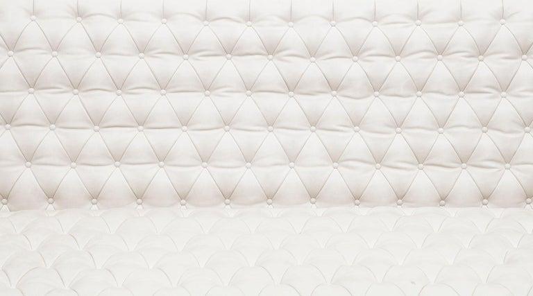 1950s White Leather Sofa by Osvaldo Borsani For Sale 2