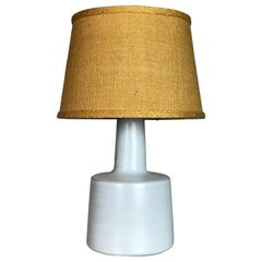 1950s White Matte Glaze Ceramic Table Lamp by Jane & Gordon Martz