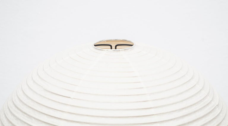 Mid-Century Modern 1950s White Sculptural Table Lamp by Isamu Noguchi For Sale