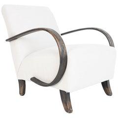 1950s White Upholstered Armchair