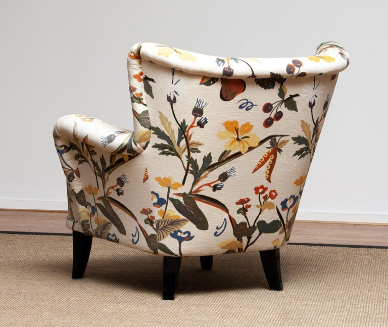 Mid-Century Modern 1950s Wingback Lounge Club Chair Model