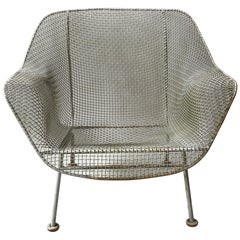 1950s Woodard Sculptura Iron Mesh Lounge Chair