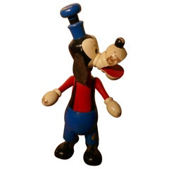 1950s Wooden Disney Goofy Mouse Money Box