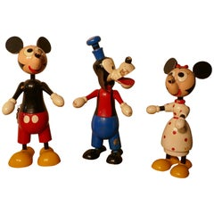 1950s Wooden Disney Mickey Mouse Money Box
