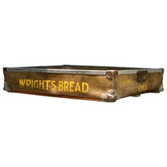 1950s Wrights Bread Crate Vintage Industrial Vulcanized Display Box Basket Tray