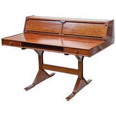 1950s Writing Desk Italian Design by Gianfranco Frattini for Bernini Rosewood