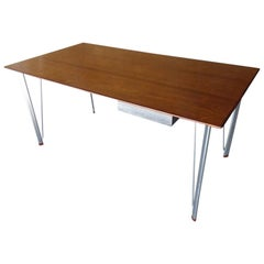 1950s Writing Table with One Drawer by Arne Jacobsen for Fritz Hansen