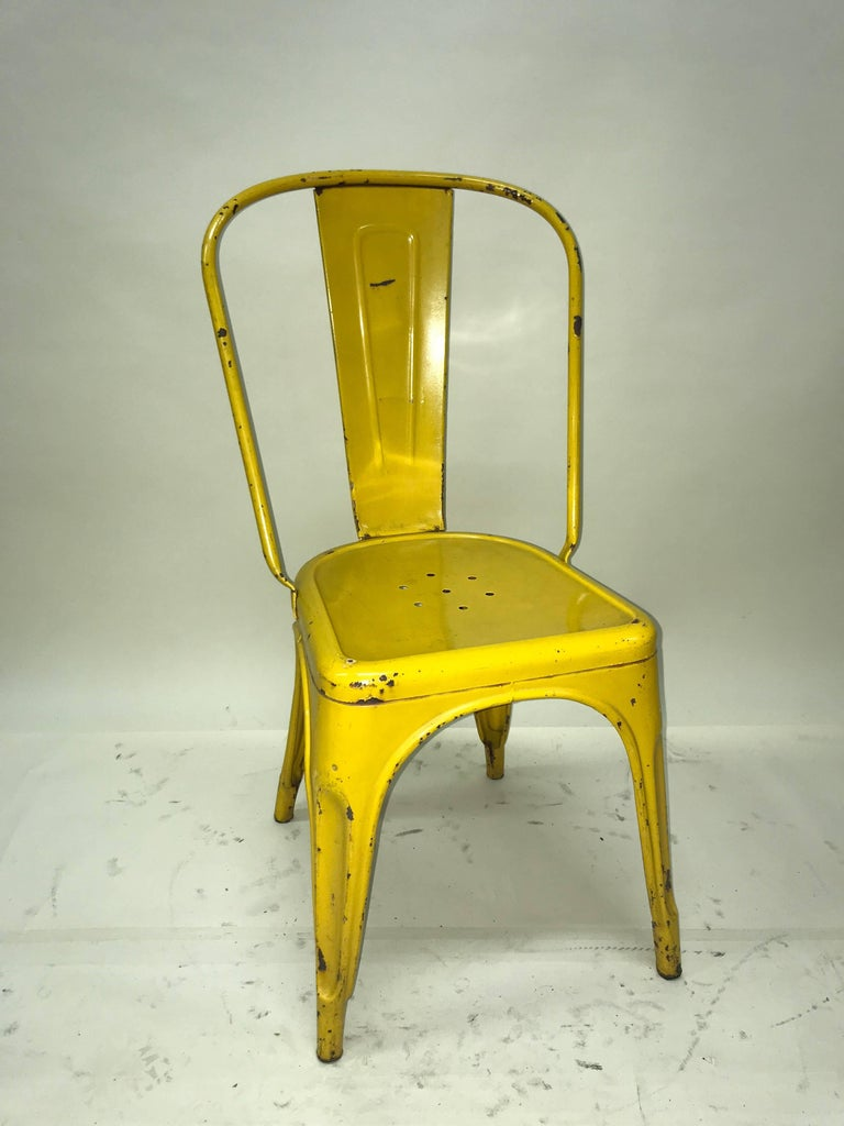 xavier pauchard french industrial dining room furniture 1950s xavier pauchard pair of industrial yellow metal french chairs tolix for sale chairs