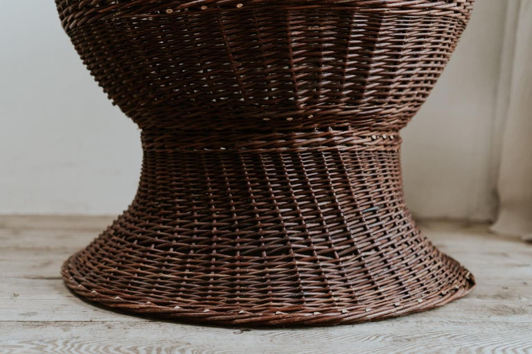 20th Century 1950s Extra Large Rattan/Wicker Jardinière/Planter For Sale