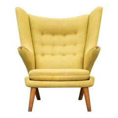 1950s Yellow Papa Bear Chair by Hans Wegner 'i'