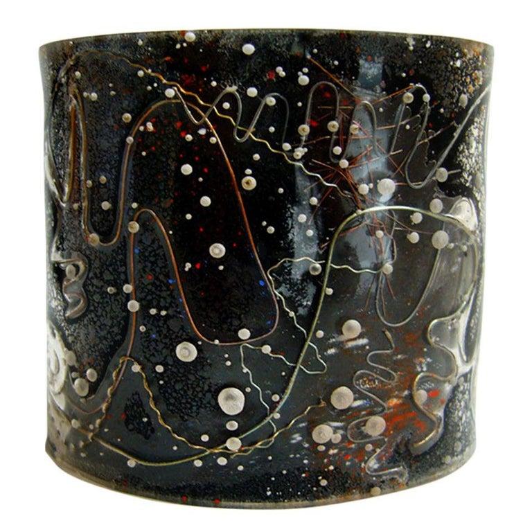 1950s Zahara Schatz Laminated Acrylic Cuff Bracelet For Sale