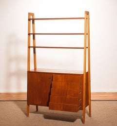 1950s, Teak and beech Roomdivider / Cabinet / Bookshelves, Sweden