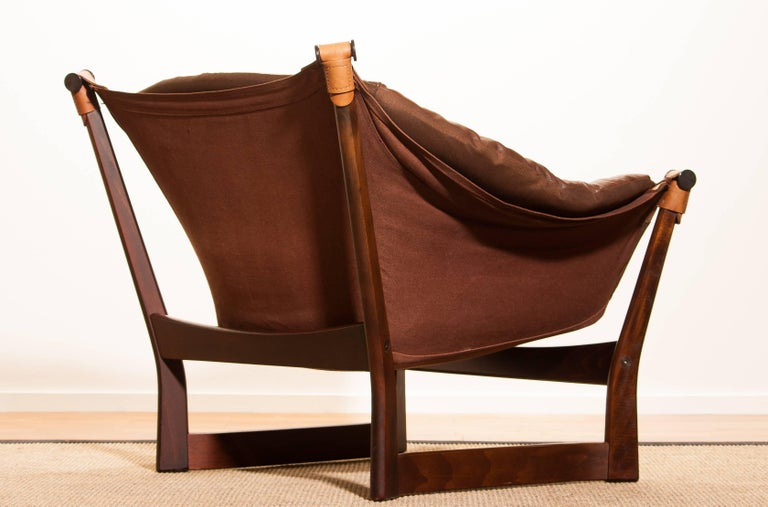 1950s, Teak And Leather 'Trega' Lounge Chair By Tormod