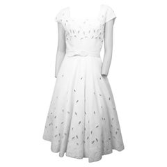 1950Ss White Pique Dress with Matching Bolero