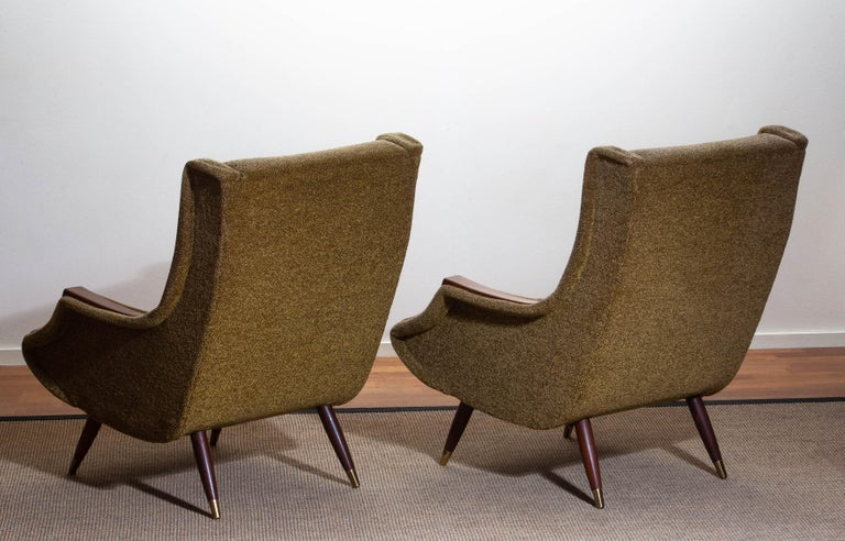 1950s, Set of Lounge Easy Club Chairs by Aldo Morbelli for Isa Bergamo, Italy For Sale 5