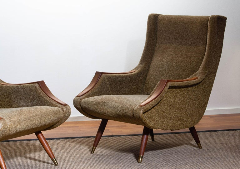 Mid-20th Century 1950s, Set of Lounge Easy Club Chairs by Aldo Morbelli for Isa Bergamo, Italy For Sale