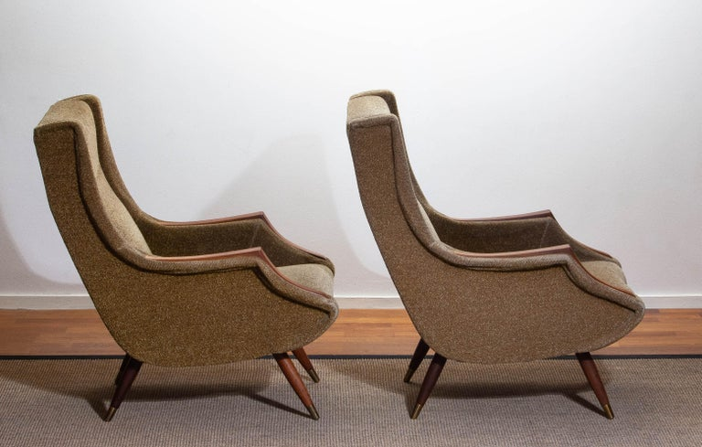 1950s, Set of Lounge Easy Club Chairs by Aldo Morbelli for Isa Bergamo, Italy For Sale 1