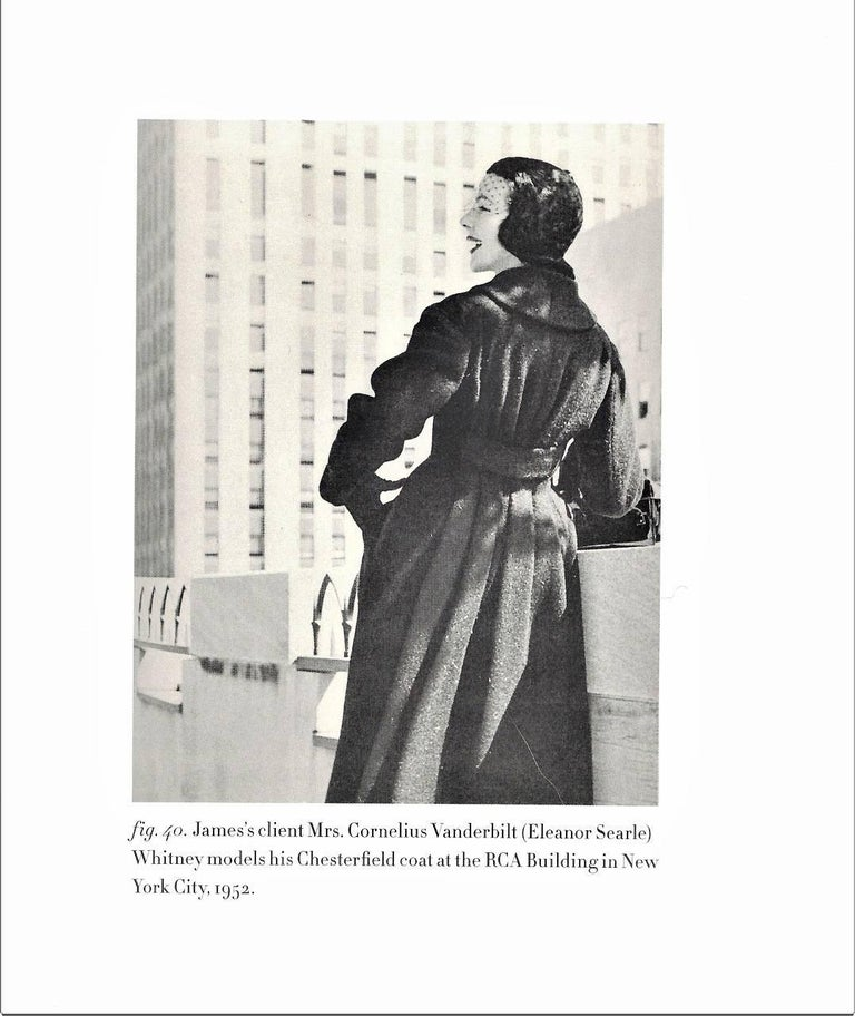 Vintage 1952 Charles James Couture Documented Museum-Held Black Princess Coat For Sale 1